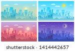 daytime cityscape morning  day... | Shutterstock .eps vector #1414442657
