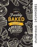 bakery illustration   cake ... | Shutterstock .eps vector #1414443881