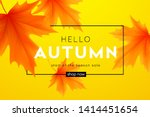 autumn poster with lettering... | Shutterstock .eps vector #1414451654
