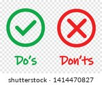 do and dont check tick mark and ...   Shutterstock .eps vector #1414470827