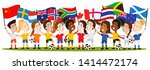 women's football  group of... | Shutterstock .eps vector #1414472174