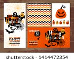 halloween background invitation ... | Shutterstock . vector #1414472354
