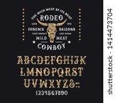 vintage modern western font... | Shutterstock .eps vector #1414473704
