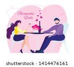 Cartoon Man And Woman Romantic...