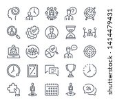 strategy related line icon set. ... | Shutterstock .eps vector #1414479431