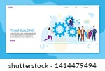 flat banner inscription team... | Shutterstock .eps vector #1414479494