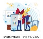 partnerships in investment fund ... | Shutterstock .eps vector #1414479527
