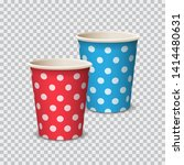 paper cup color with polka dot... | Shutterstock .eps vector #1414480631