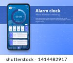 alarm clock app smartphone...