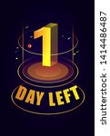days left with 3d futuristic... | Shutterstock .eps vector #1414486487