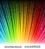 shine rainbow background with... | Shutterstock .eps vector #141449035