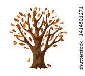 Autumn Stylized Tree With...