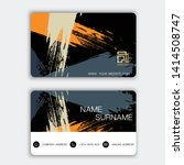 modern business card design.... | Shutterstock .eps vector #1414508747