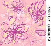 seamless beauty floral   Shutterstock .eps vector #141450919