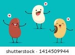 beans of different types in a... | Shutterstock .eps vector #1414509944