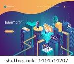 smart city isometric... | Shutterstock .eps vector #1414514207