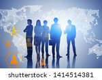 diverse team of business people ... | Shutterstock . vector #1414514381