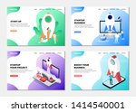 set of web page design... | Shutterstock .eps vector #1414540001