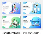 set of web pages. landing pages.... | Shutterstock .eps vector #1414540004