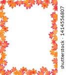fall leaves border isolated on... | Shutterstock .eps vector #1414556807