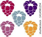 raspberries icon. berry set....   Shutterstock .eps vector #1414581254
