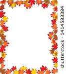 fall leaves border  on white... | Shutterstock . vector #1414583384