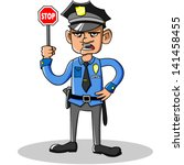 Cartoon Vector Policeman.