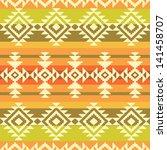 tribal geometric striped pattern | Shutterstock .eps vector #141458707