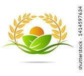 farm icon concept logo full... | Shutterstock .eps vector #1414597634