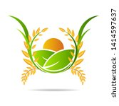 farm icon concept logo full... | Shutterstock .eps vector #1414597637