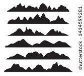 vector graphics set of... | Shutterstock .eps vector #1414599281