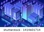 isometric ultra city concept of ... | Shutterstock .eps vector #1414601714