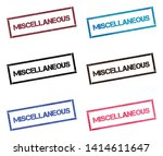 miscellaneous rectangular stamp ... | Shutterstock .eps vector #1414611647