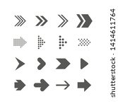 set of arrows. collection of... | Shutterstock .eps vector #1414611764
