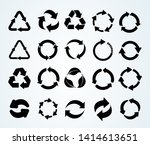big set of recycle icon.... | Shutterstock .eps vector #1414613651