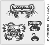 scorpions emblems  labels ... | Shutterstock .eps vector #1414626977