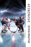 Hockey Players Starts Game....