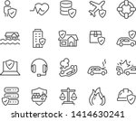 set of insurance icons  such as ... | Shutterstock .eps vector #1414630241