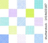 Checkered Pattern Of Various...