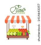 assortment of vegetables and... | Shutterstock .eps vector #1414643357