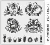 set of beer emblems  labels ... | Shutterstock .eps vector #1414655147