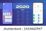 mobile app calendar 2020...