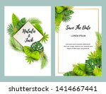 wedding invitation set with... | Shutterstock .eps vector #1414667441