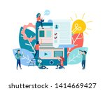 vector illustration open... | Shutterstock .eps vector #1414669427