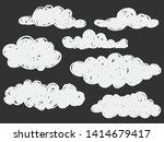 isolated childish hand drawn... | Shutterstock .eps vector #1414679417