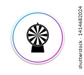 Stock photo lucky wheel icon isolated on white background circle white button 1414682024