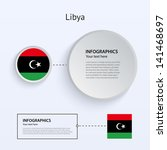 libya country set of banners on ...