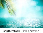 blurred summer background of... | Shutterstock . vector #1414704914