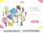isometric flat vector landing... | Shutterstock .eps vector #1414709684