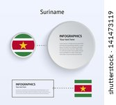 suriname country set of banners ...